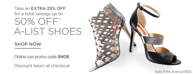 Up to 50% off Shoes