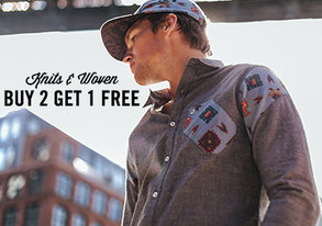 Shop Buy 2 Get 1 Free: Knits & Wovens