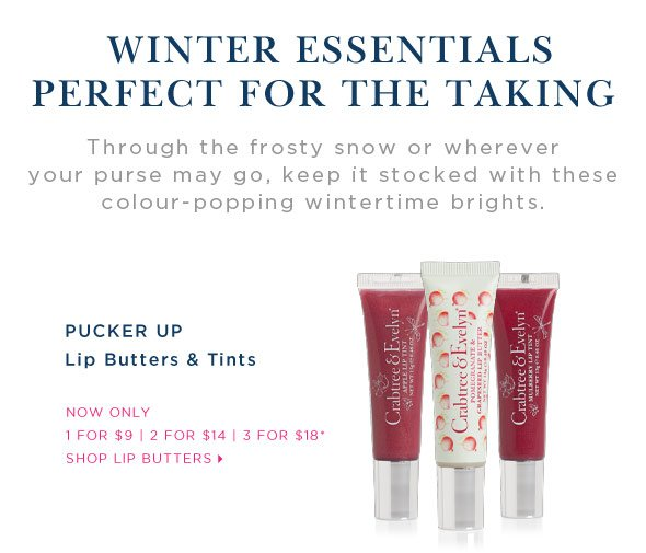 PUCKER UP - Lip Butters & Tints - Special Offer.