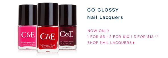 GO GLOSSY - Nail Lacquers - Special Offer.