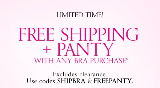 Free Shipping + Panty with Bra Purchase