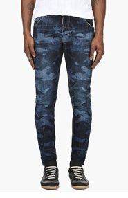 DSQUARED2 Blue Camo Jeans for men