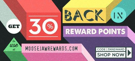 Get 30% back in Moosejaw Rewards