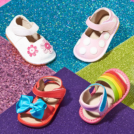 Squeaky Stepping: Kids' Shoes