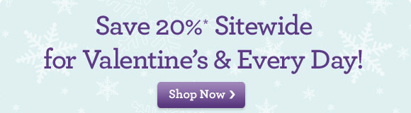 Save 20* Sitewide For Valentine's & Every Day!  Share the love - and the smiles - with truly original flowers & gifts for Valentine's, birthdays or any day! Use Promo Code VDAY20 at checkout. Shop Now