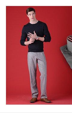 Pinstripe Cotton Pants