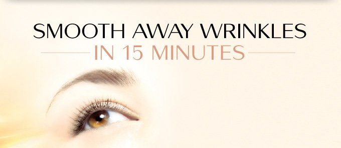 SMOOTH AWAY WRINKLES | IN 15 MINUTES