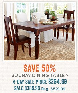 Save 50% Sourav Dining Table