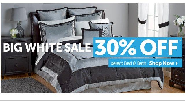 Big White Sale - 30% OFF* select Bed & Bath - shop Now