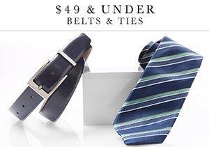 $49 & Under: Belts & Ties