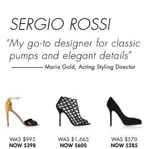 SERGIO ROSSI. SHOP NOW