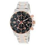 Invicta 14877 Men's Specialty Black Dial Two Tone Rose Gold Steel Bracelet Chronograph Watch