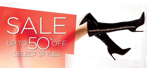 sale up to 50% off seleect styles