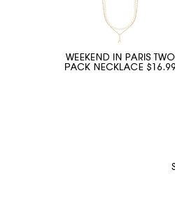 WEEKEND IN PARIS TWO PACK NECKLACE