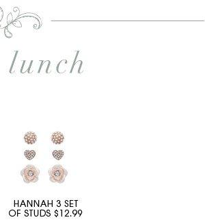 HANNAH 3 SET OF STUDS