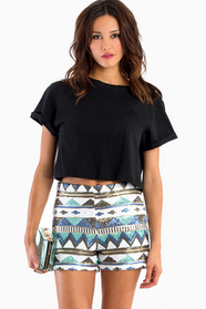 Aztec Sequin Shorts 42