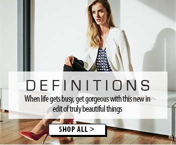 When life gets busy, get gorgeous with this new in Definitions edit