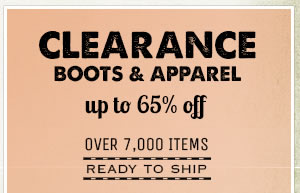 Clearance Boots and Apparel