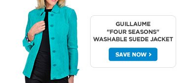 """Guillaume """"Four Seasons"""" Washable Suede Jacket"""