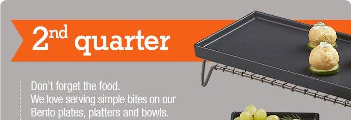 bento matte black rectangular platter 7.96  reg 9.95