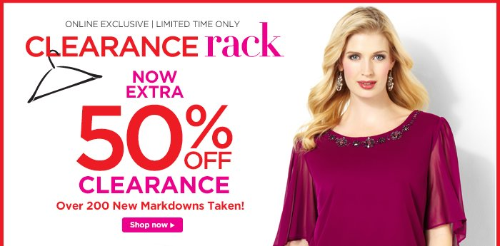 Extra 50% off clearance