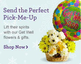 Send the Perfect Pick-Me-Up Lift their spirits with our Get Well flowers & gifts.  Shop Now