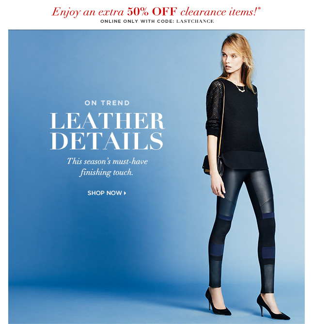 Shop The Trend: Leather
