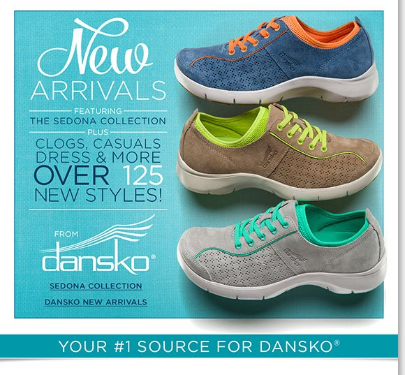 Shop over 125 NEW Dansko arrivals, including new styles from the popular Sedona Collection! Plus, get moving in the comfort of ABEO SMARTsystem, our #1 walking shoes and save $30 (on ALL regular priced styles)!* Shop now to find the best selection online and in-stores at The Walking Company.