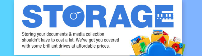 Storing your documents & media collection shouldn't have to cost a lot. We've got you covered with some brilliant drives at affordable prices.
