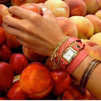 Coral Gold Tokyo Crystal Wrap Watch