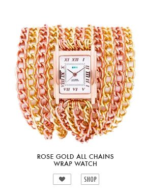 Rose Gold All Chains Wrap Watch