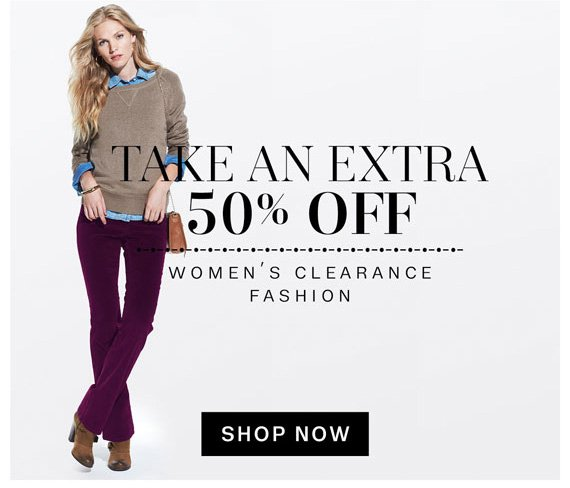 Take an extra 50% Off. Women's clearance fashion. Shop Now