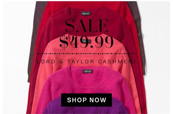 Sale $49.99 Lord & Taylor Cashmere. Shop Now