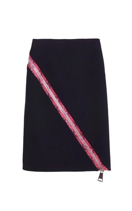 Asymmetrical Heavy Zip Skirt