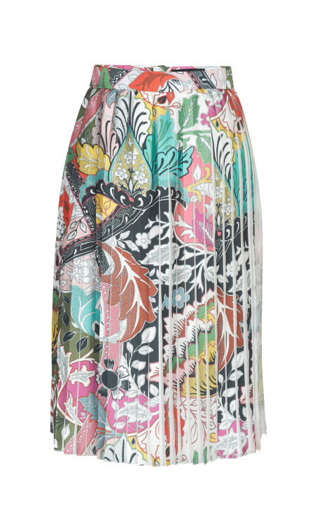 Harleth Printed Poly Satin Skirt