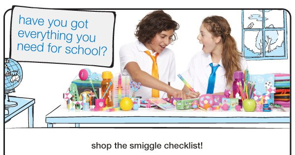 have you got everything you need for school? - shop the smiggle checklist!