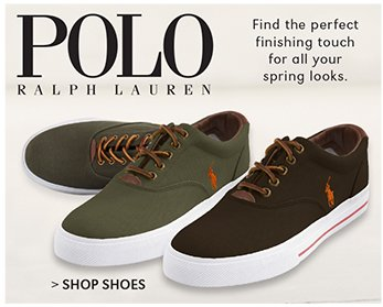 POLO RALPH LAUREN | FIND THE PERFECT FINISHING TOUCH FOR ALL YOUR SPRING LOOKS. | SHOP SHOES