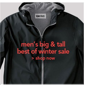 Shop Men'S Big and Tall Best of Winter Sale
