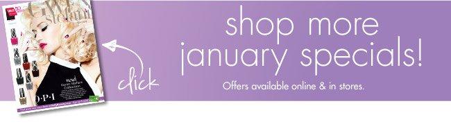 shop more january specials!