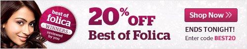 20% Off Best of Folica