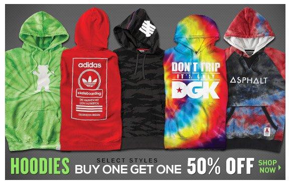 Hoodies: Buy One Get One 50% Off!