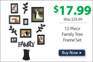 12-Piece Family Tree Frame Set