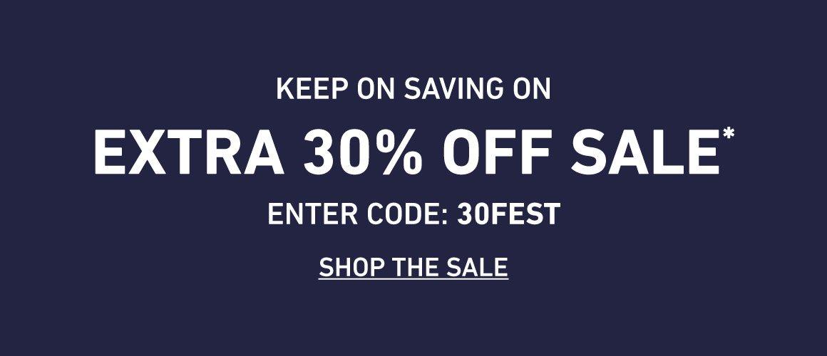 Extra 30% Off Sale. Enter Code: 30FEST
