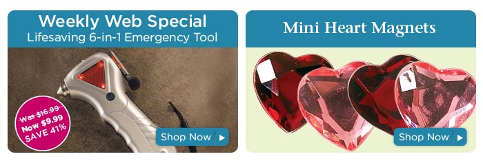 Emergency Tool & Mini Heart Magnets