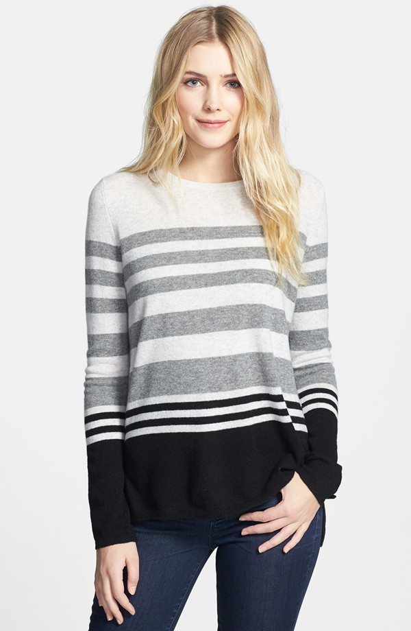 Vince Colorblocked Stripe Sweater