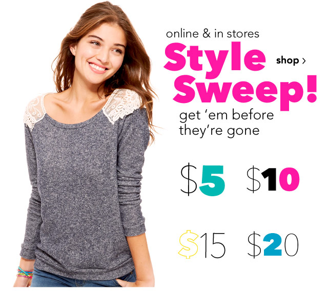 Style Sweep! get 'em before they're gone