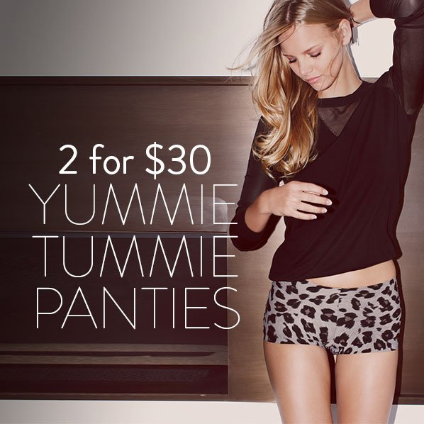 2 for $30 - YUMMIE TUMMIE PANTIES