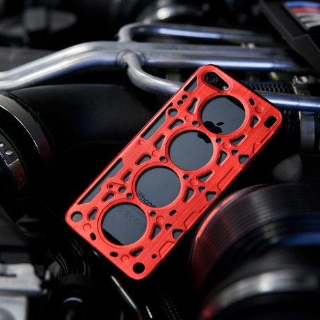 Gasket V8 for iPhone 5 // Red