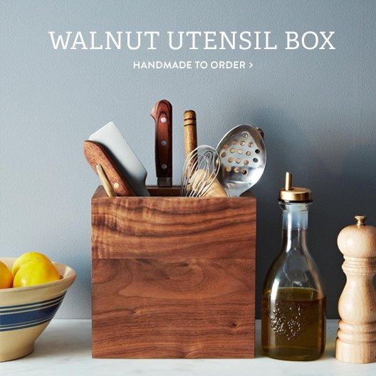 Walnut Utensil Box