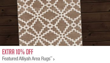 Extra 10% off Featured Alliyah Area Rugs**